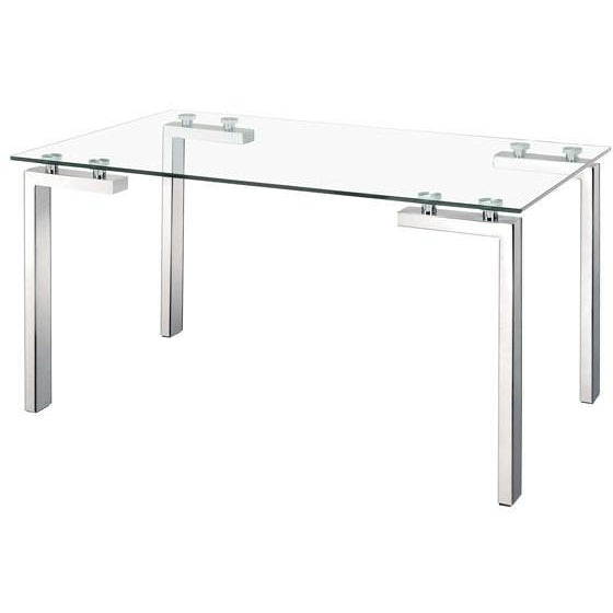 Zuo modern Polished Stainless Steel Roca 102142 Dining Table - Pankour