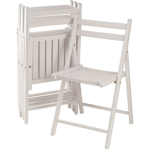 Robin 4-PC Folding Chair Set White - Pankour