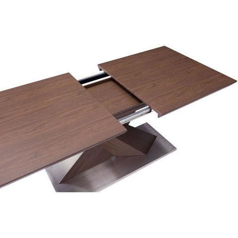 Zuo Modern Walnut Jaques 107859 Extension Dining Table - Pankour