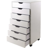 Halifax Cabinet for Closet / Office, 7 Drawers, White - Pankour