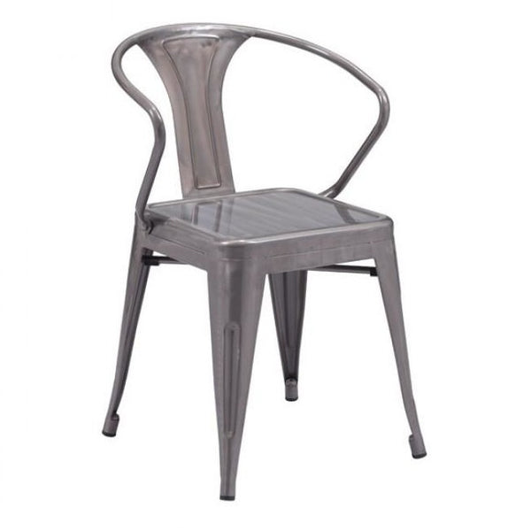 ZUO Modern Helix Dining Chair Gunmetal 108145 Dining Chairs/Stools (set of 2)