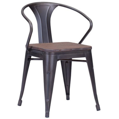 ZUO Modern Helix Dining Chair Gunmetal 108145 Dining Chairs/Stools (set of 2) - Pankour