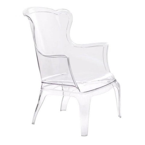 ZUO Modern Vision Chair Transparent 110030 Living / Dining Chairs - Pankour