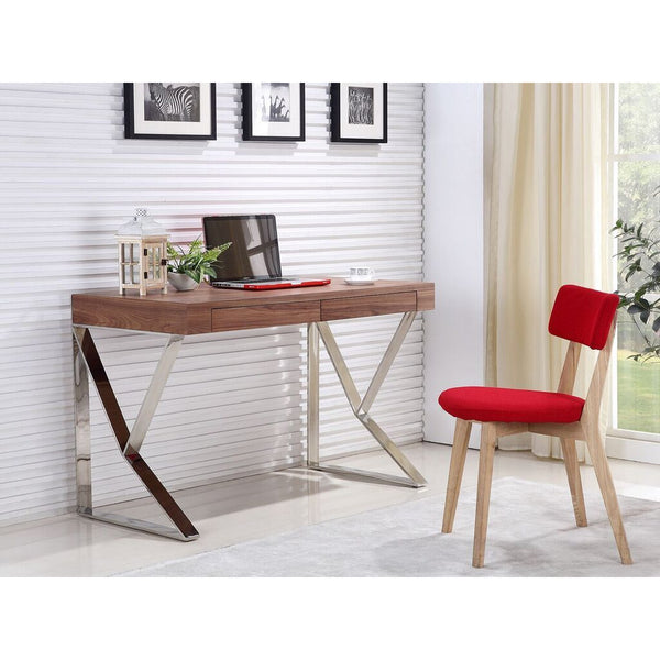 YORK Collection Walnut Veneer  Office Desk by Talenti Casa - Pankour