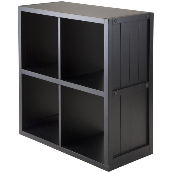 Winsomewood Shelf 2 x 2 Cube with Wainscoting Panel - Pankour