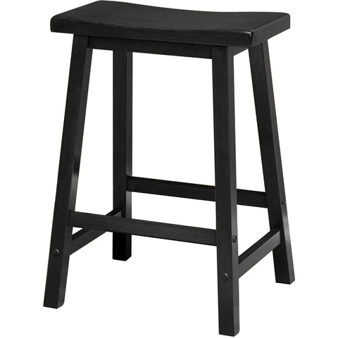 "Satori 24"" Saddle Seat Bar Stool Black - Pankour"