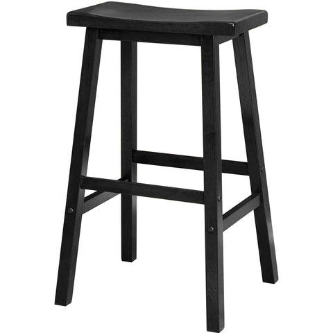 "Satori 29"" Saddle Seat Bar Stool Black"