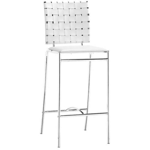 Zuo Modern Criss Cross Counter 333061 Chair White - Pankour