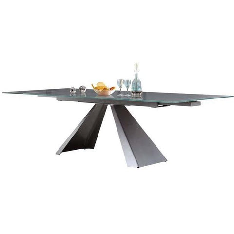 Casabianca Arrow Collection Extendable Glass CB-399DT Dining Table - Pankour