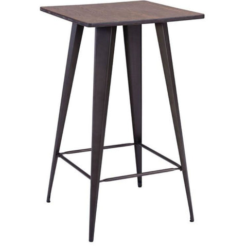 Titus Bar Table Rusty & Elm 601188 Wood Top