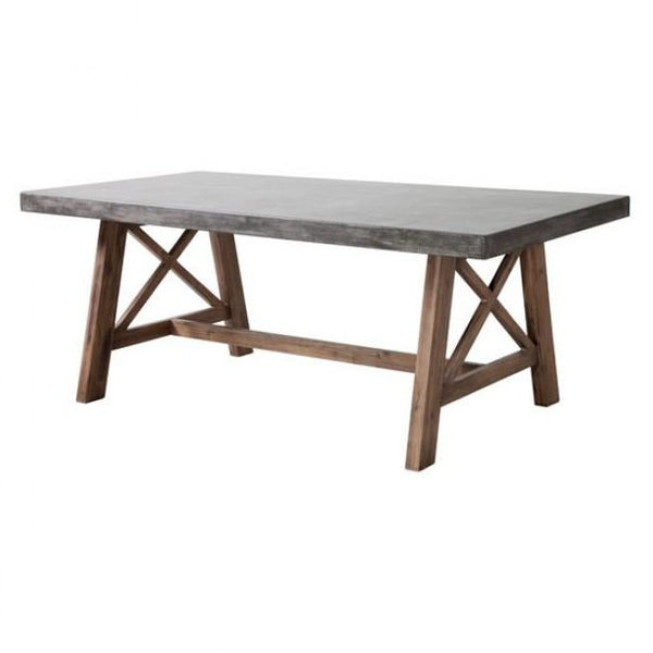 ZUO Modern Ford Dining Table Cement & Natural 703594 Dining Tables - Pankour