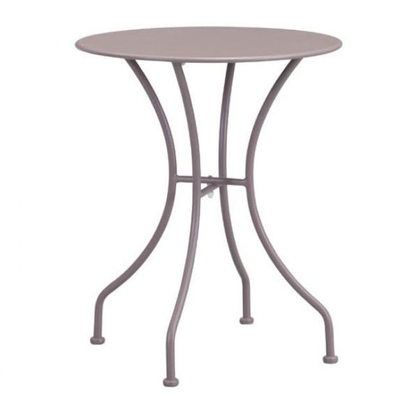 ZUO Modern Oz Dining Round Table Taupe 703607 Dining Tables - Pankour