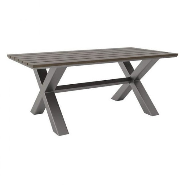 ZUO Modern Bodega Dining Table Ind. Gray & Brown 703817 Dining Tables - Pankour