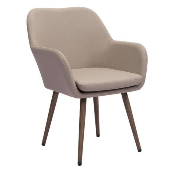 ZUO Modern Pismo Dining Chair Taupe 703843 Dining Chairs - Pankour