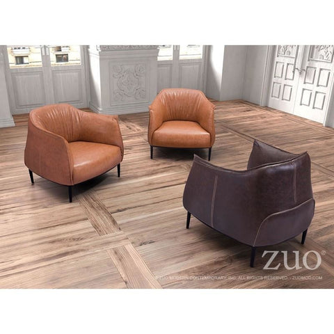 ZUO Modern Julian Occasional Chair Coffee 98086 Living Chairs
