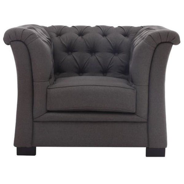 Nob Hill Arm Chair 98095 Charcoal Gray - Pankour