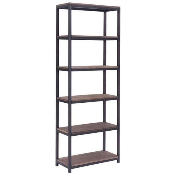 ZUO Modern Mission Bay Tall Six Level Shelf 98143 Living,Office Storage,Storage - Pankour