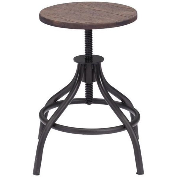 ZUO Modern Plato Stool Rustic Wood 98185 Living Stools - Pankour