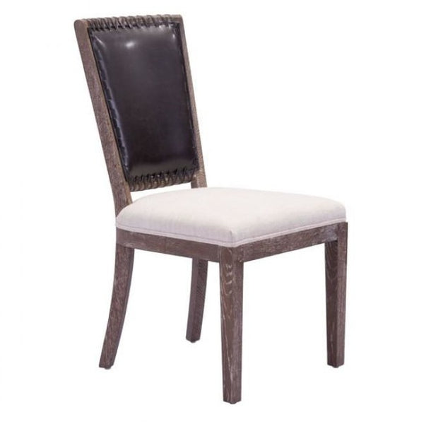 ZUO Modern Market Dining Chair Brown & Beige 98379 Dining Chairs (set of 2) - Pankour