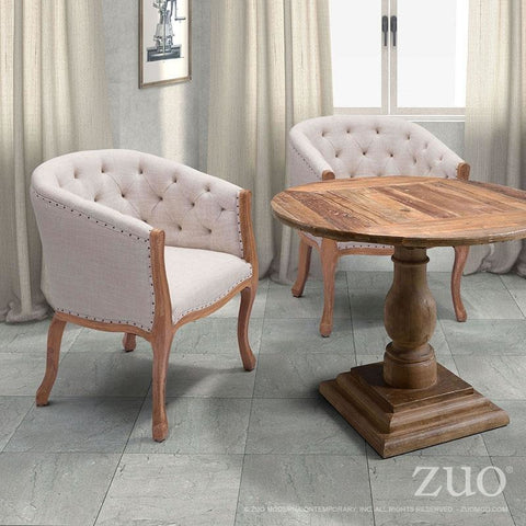 ZUO Modern Shotwell Dining Chair Beige 98380 Dining,Living Chairs + Stools,Chairs - Pankour