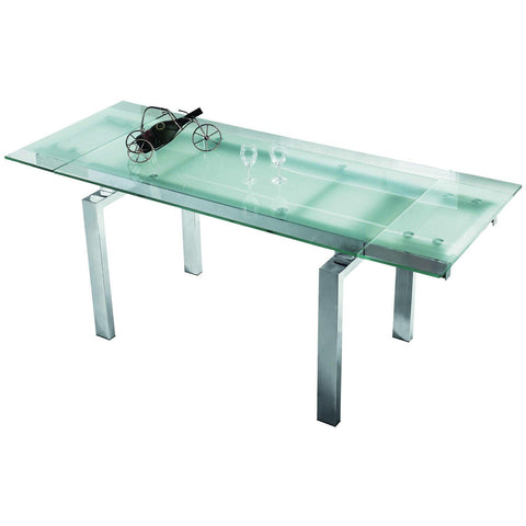 "Casabianca Frosty Collection CB-02DT 63"" - 86"" Extendable Dining Table - Pankour"