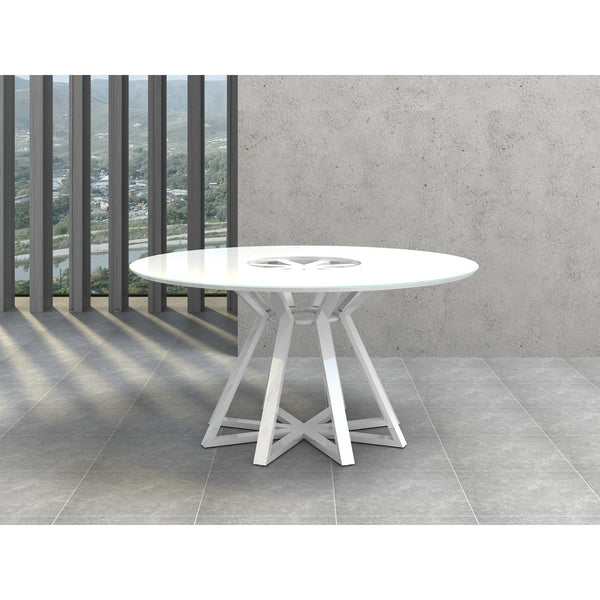 STAR Collection High Gloss White Lacquer  Dining Table CB-3476 by Casabianca Home - Pankour
