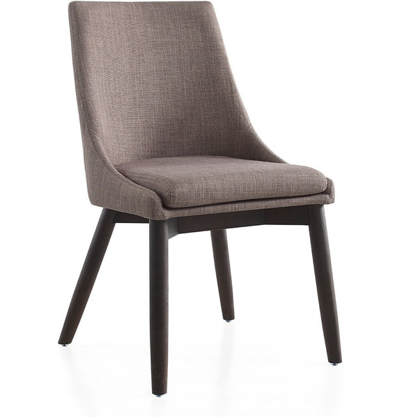 CREEK Collection Dark Gray Linen Dining Chair CB-F3185-GWEN by Casabianca Home - Pankour