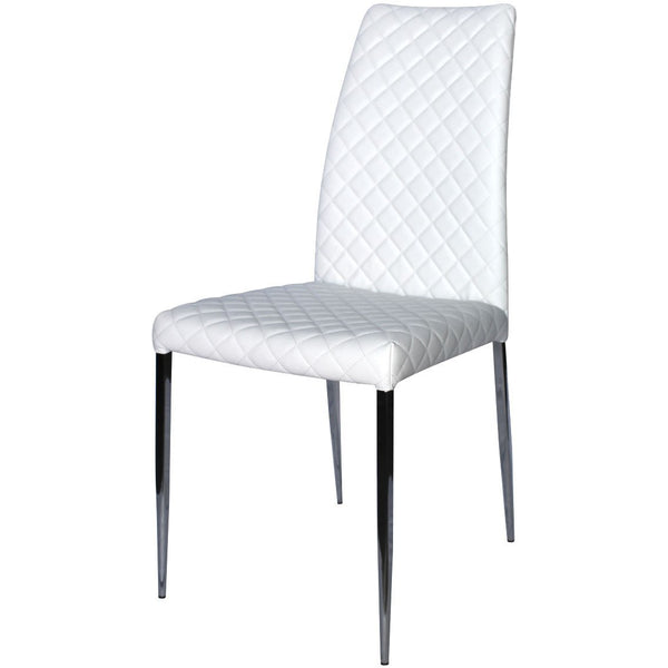 Casabianca Home Coco White Eco-Leather CB-F3196-W Dining Chair - Pankour