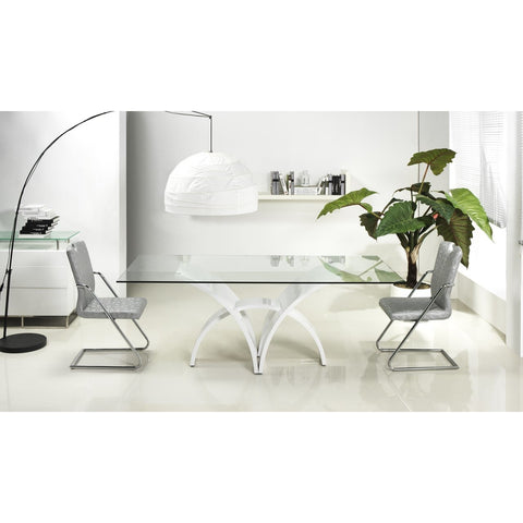 MANHATTAN Collection High Gloss White Lacquer Dining Table CB-060 by Casabianca Home - Pankour