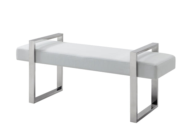 Casabianca Home ALBA CB-3430-WH-BENCH Bench White Eco-Leather - Pankour