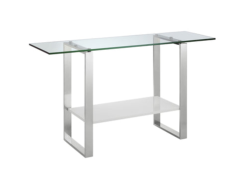 Casabianca Home CLARITY CB-3441-W Console Table High Gloss White Lacquer - Pankour