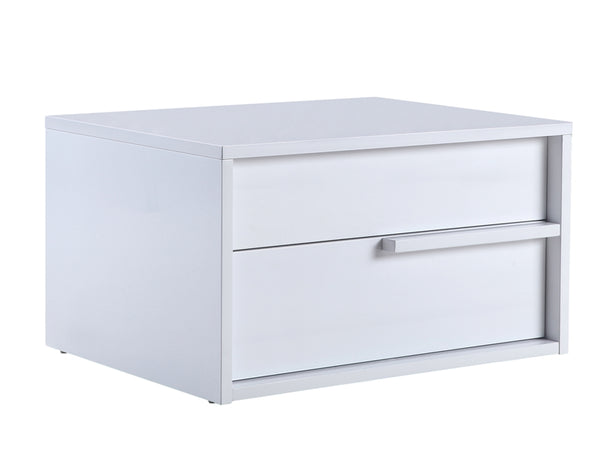 Casabianca Home DOLCE TC-0210-R-N-WH Nightstand / End Table High Gloss White Lacquer Right Side - Pankour