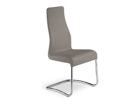 Casabianca Home FLORENCE TC-2004-TAUPE Dining Chair Italian Taupe Leather - Pankour