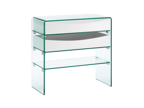 Casabianca Home IBIZA CB-021-2DR-WH Console Table White Lacquer - Pankour