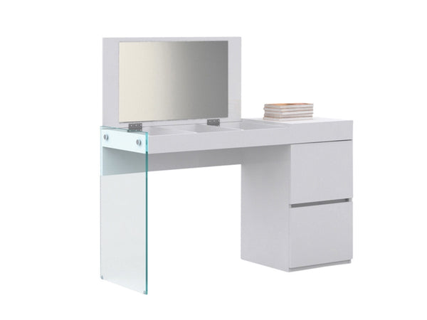 Casabianca Home IL VETRO CB-111-W-VANITY Vanity High Gloss White Lacquer - Pankour