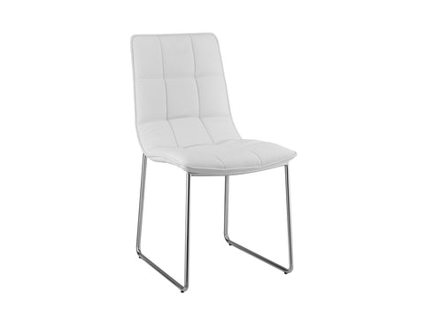 Casabianca Home LEANDRO CB-870White Dining Chair White Eco-leather - Pankour