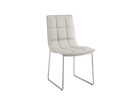 Casabianca Home LEANDRO CB-870 Dining Chair Gray Eco-leather - Pankour