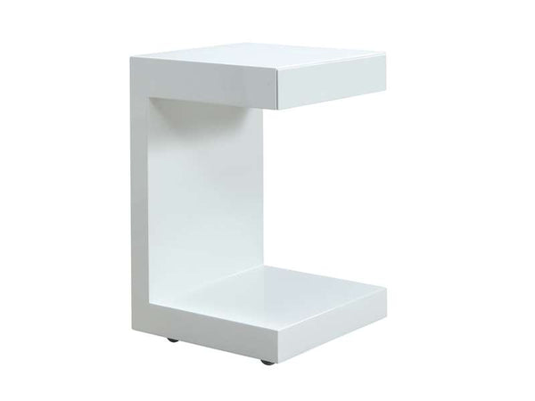 Casabianca Home LINO TC-1332C-WHT Nightstand High Gloss White Lacquer - Pankour