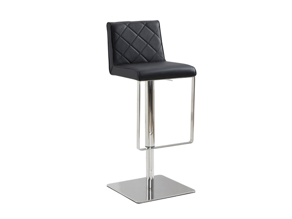 Casabianca Home LOFT CB-922-BL-BAR Barstool Black Eco-leather w Stainless Steel - Pankour
