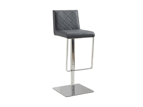 Casabianca Home LOFT CB-922-GR-BAR Barstool Gray Eco-leather w Stainless Steel - Pankour