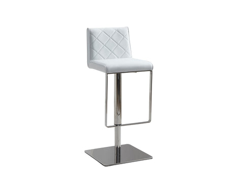 Casabianca Home LOFT CB-922-WH-BAR Barstool White Eco-leather w Stainless Steel - Pankour