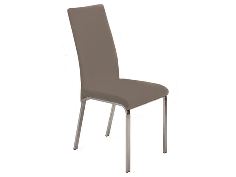 Casabianca Home LOTO TC-2007-T Dining Chair Italian Taupe Leather - Pankour