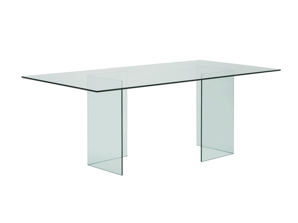 Casabianca Home MIAMI CB-010-CLEAR Dining Table Clear Glass - Pankour