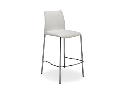 Casabianca Home ROMI TC-2014-WH-CBAR Barstool Italian White Leather - Pankour