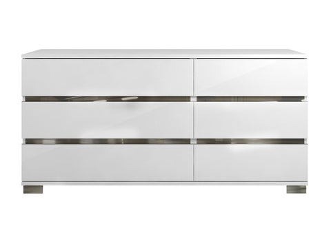 Casabianca Home SPARK TC-9003-DR-WH Dresser High Gloss White Lacquer - Pankour