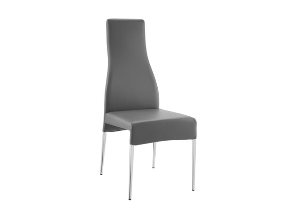Casabianca Home VALENTINO CB-F3151-G Dining Chair Dark Gray Eco-leather - Pankour
