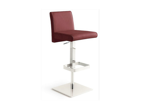 Casabianca Home VITTORIA TC-2009-BURG-BAR Barstool Italian Burgundy Leather - Pankour