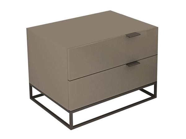 Casabianca Home VIZZIONE CB-1406-NG Nightstand/ End Table - Pankour