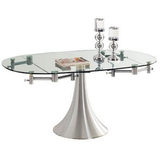 "Casabianca Thao II Collection CB-T017 40"" - 63"" Dining Table - Pankour"