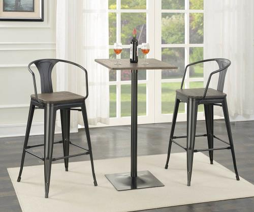 Coaster Furniture 100737 BAR STOOL DARK ELM & MATTE BLACK - Pankour